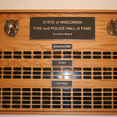 Hall of Fame Donor Board